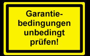 Garantiebedingungen unbeding prüfen!